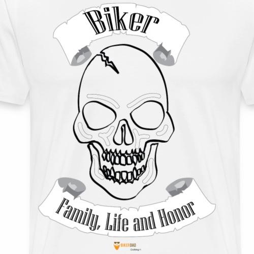 skull BikerFamilyLifeHonor - Men's Premium T-Shirt