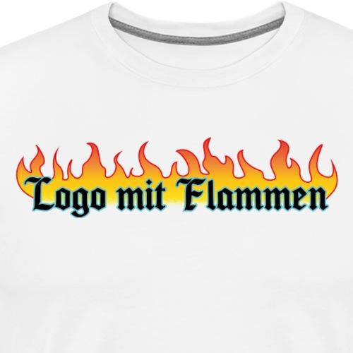 Logo mit Flammen - Männer Premium T-Shirt