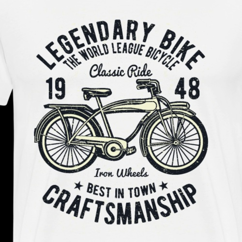 Legendary Bike - Radfahren oldschool - Männer Premium T-Shirt