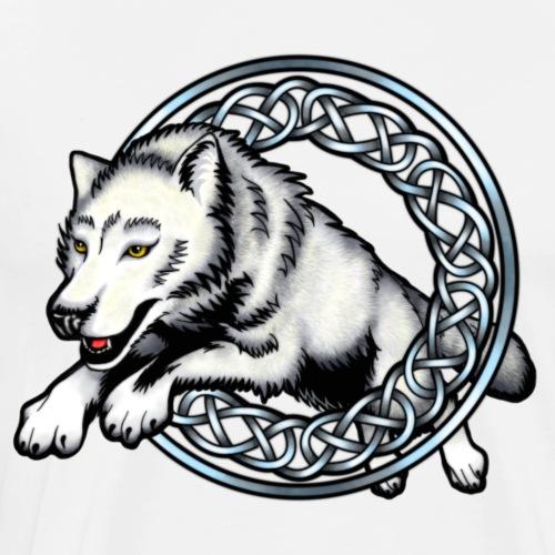 Leaping Wolf - Men's Premium T-Shirt