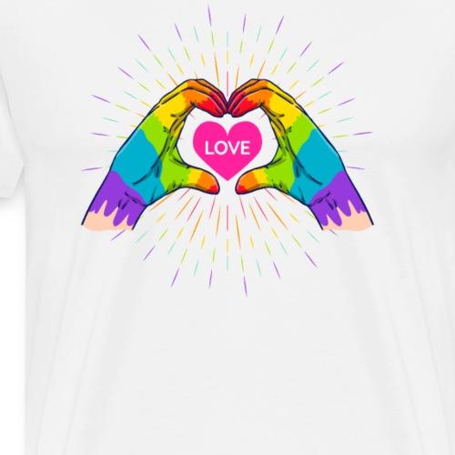 Regenbogen, LGBT, Liebe, Homosexuell, JGA - Männer Premium T-Shirt