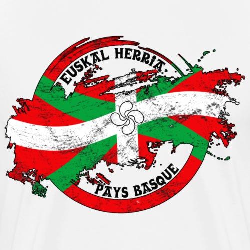 Ikurriña, drapeau du pays Basque - T-shirt Premium Homme