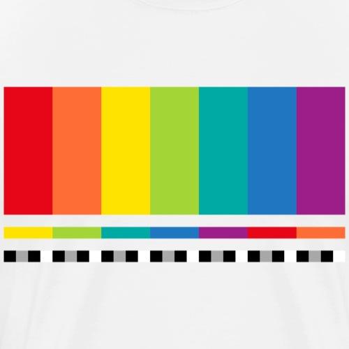 Testbild Regenbogen Rainbow Peace Pace - Men's Premium T-Shirt