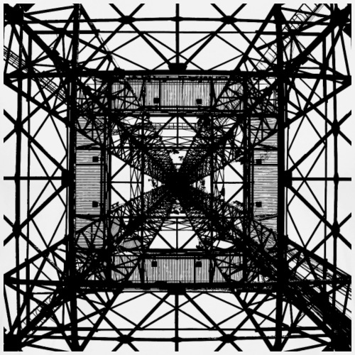 Square Tower black - Männer Premium T-Shirt