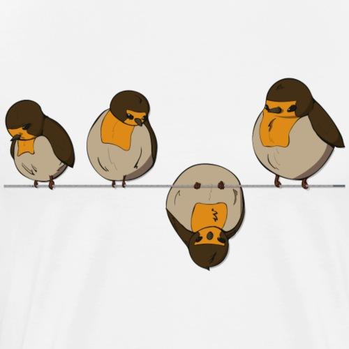 Birds on a wire - Men's Premium T-Shirt