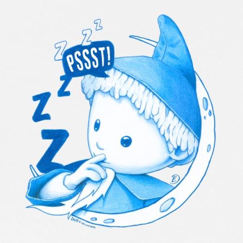 Sandmann im Mond Pssst blau - Männer Premium T-Shirt