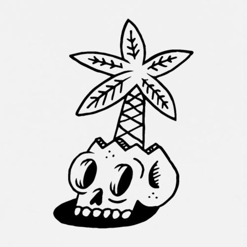 PALM Skull - T-shirt Premium Homme