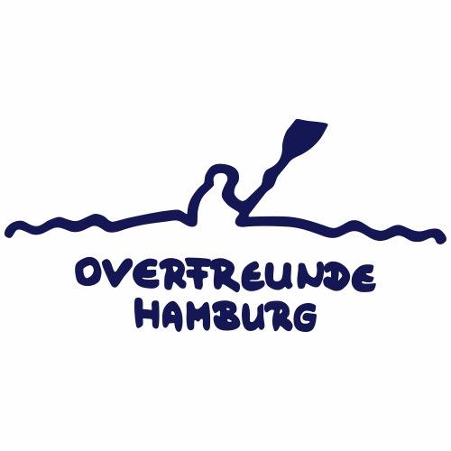 Logo OverfreundeHamburg Blau   Klein - Männer Premium T-Shirt