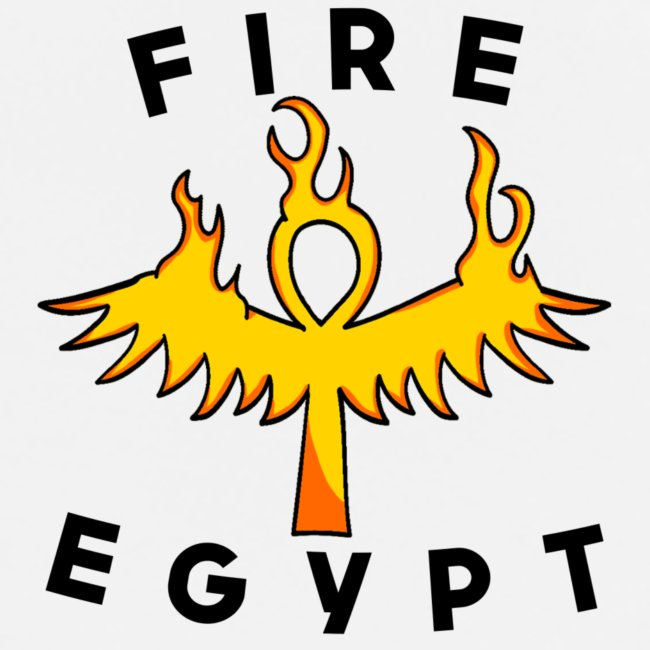 FIRE EGYPTIAN LIFE CROSS