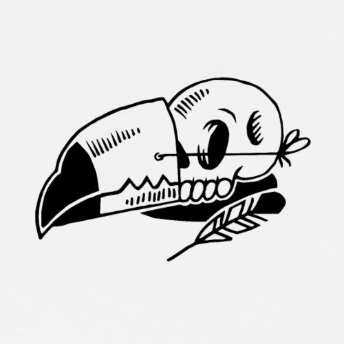 TOUCAN Skull - T-shirt Premium Homme