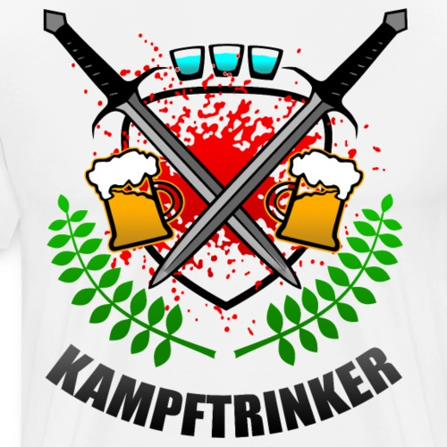 Kampftrinker Sauftour Team Bier Schnaps - Männer Premium T-Shirt