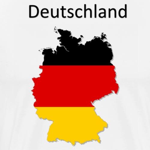 Deutschland Karte - Männer Premium T-Shirt