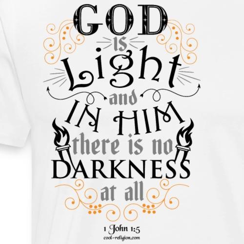 1 John 1:5 - God is Light - Men's Premium T-Shirt