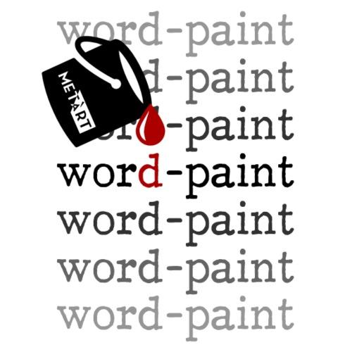 Word - paint - Maglietta Premium da uomo