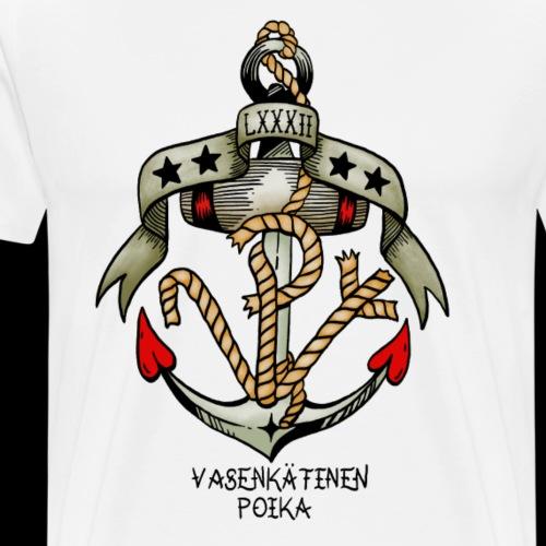 VP Ankkuri Väreillä - Miesten premium t-paita