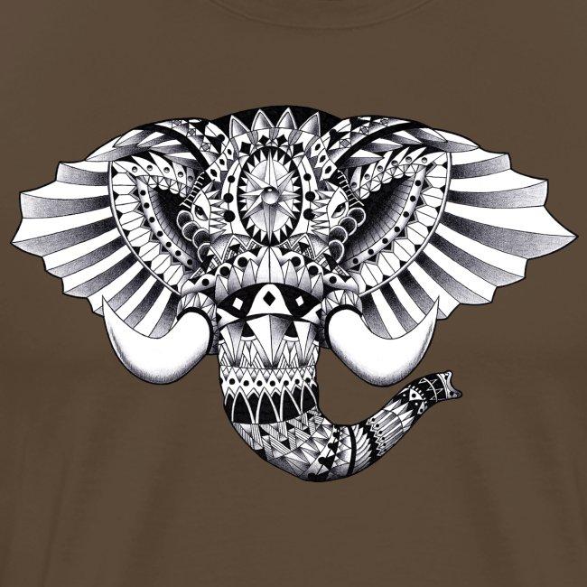 Elephant Ornate Drawing