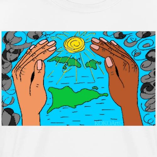 Hjælp Vestindien (uden tekst) - Herre premium T-shirt