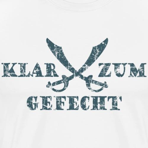 Klar zum Gefecht Piraten Säbel Vintage Dunkelblau - Männer Premium T-Shirt