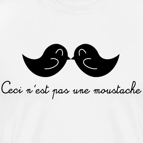 Ceci n'est pas une moustache - Mannen Premium T-shirt