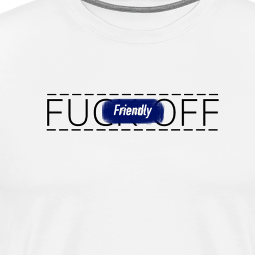 FRIENDLY FUCK OFF LOGO - Men's Premium T-Shirt
