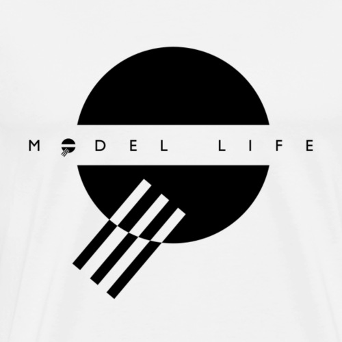Model Life Black Logo - Men's Premium T-Shirt