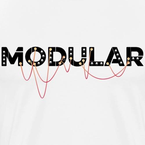 Modular Synthesizer, DJ und Produzent old school - Männer Premium T-Shirt