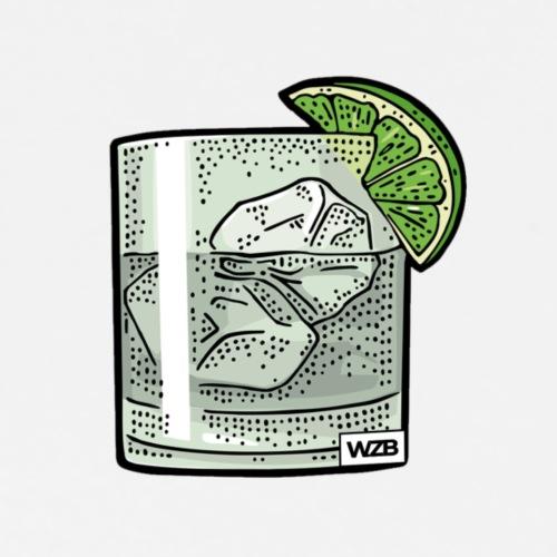 Gin Tonikum Backprint - Männer Premium T-Shirt