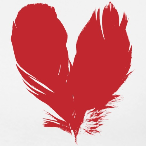 plumes de cœur - T-shirt Premium Homme