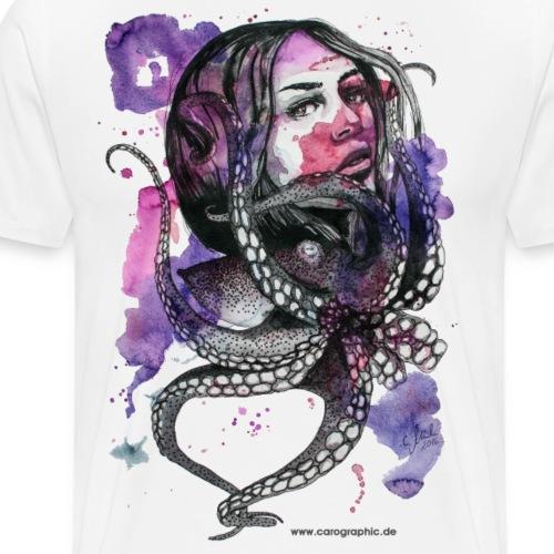 octopus oktopus portrait by carographic - Männer Premium T-Shirt