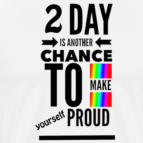 Today Proud black - Men's Premium T-Shirt