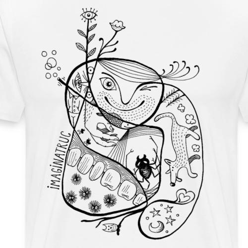 fleurs bulles araignée loup - T-shirt Premium Homme