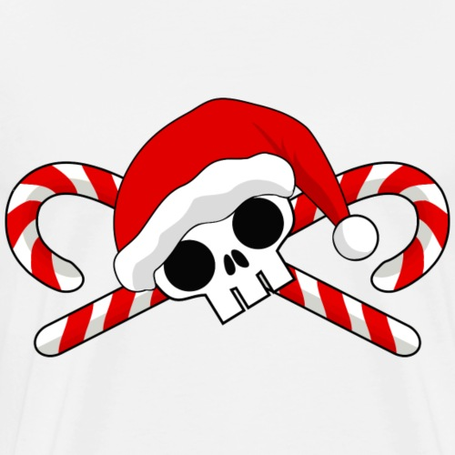 Santa Skull with Candy Canes - Men's Premium T-Shirt