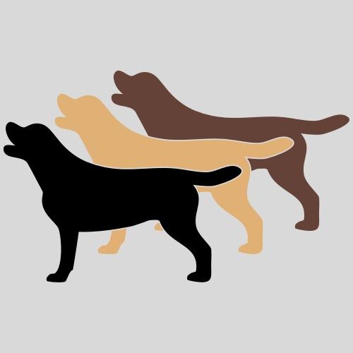 3 Labrador Farben - Männer Premium T-Shirt