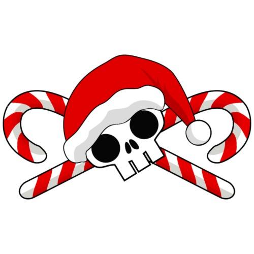 Santa Skull with Candy Canes - Men's Premium T-Shirt
