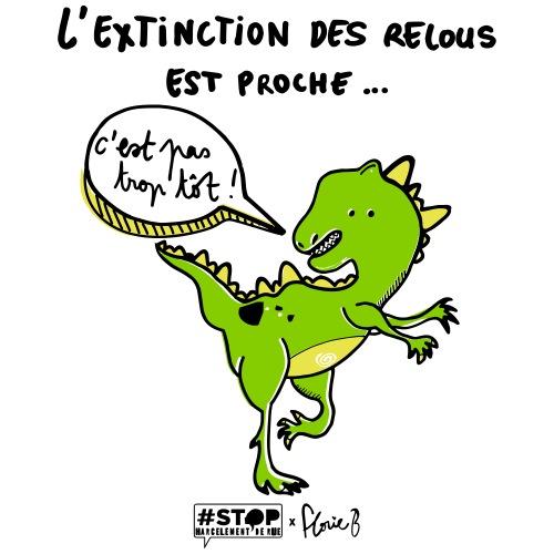 L'extinction des relous - Dino vert - T-shirt Premium Homme