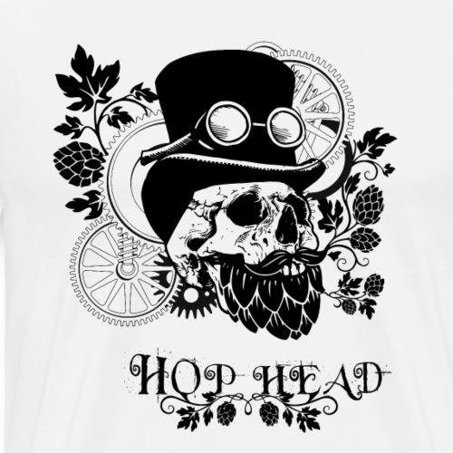 Hop Head Skull - Men's Premium T-Shirt