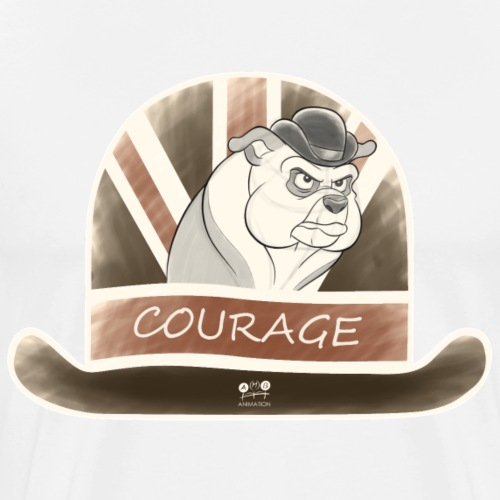 Bulldog Courage - Men's Premium T-Shirt