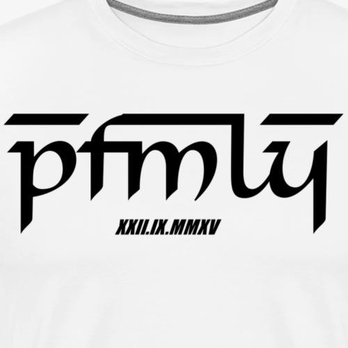 PaatoFamily mit Erstelldatum (blackfont) - Männer Premium T-Shirt