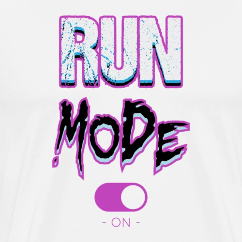 Run mode-on - T-shirt Premium Homme