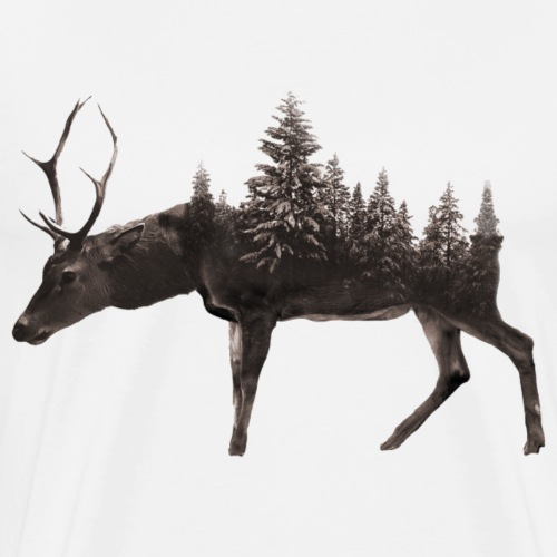 Tree deer Design - Männer Premium T-Shirt