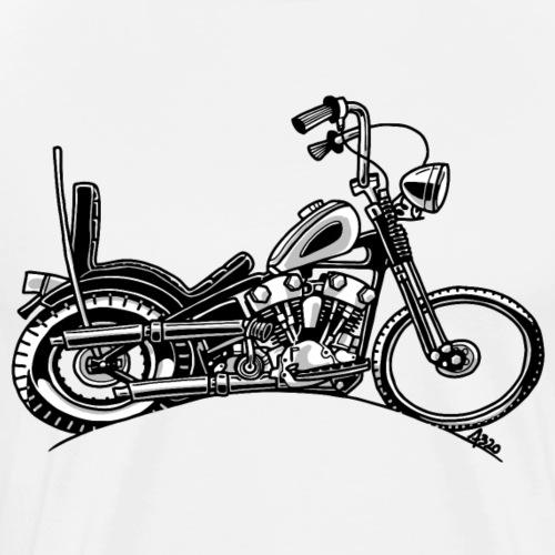 0906 chopper knucklehead - Mannen Premium T-shirt