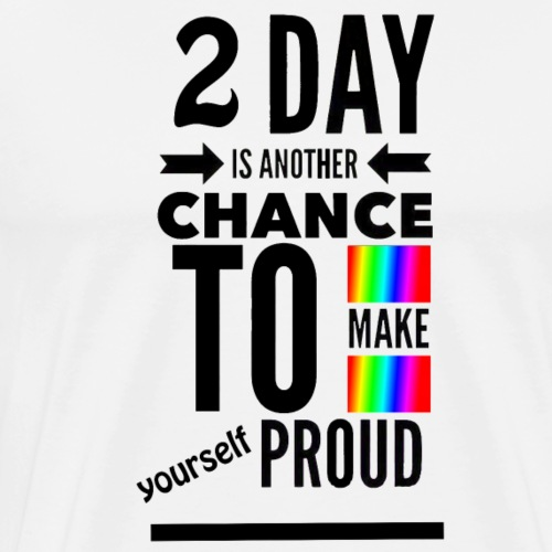 Today Proud black - Men's Premium T-Shirt