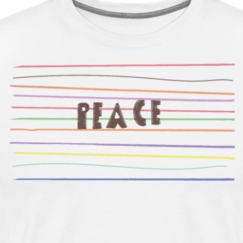 Peace, Made by Kids - Maglietta Premium da uomo