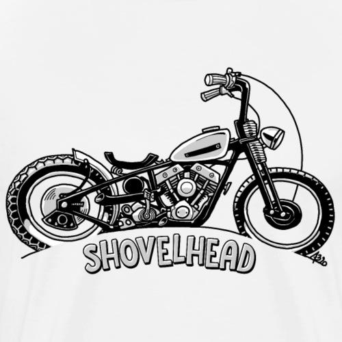 0917 chopper shovelhead - Mannen Premium T-shirt