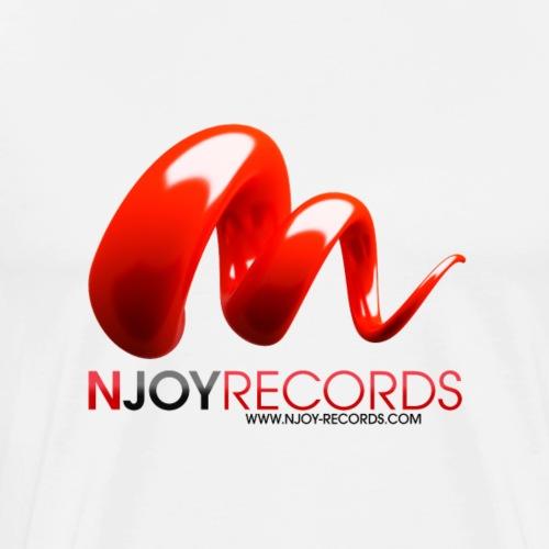 Logo Njoy Records Noir - T-shirt Premium Homme