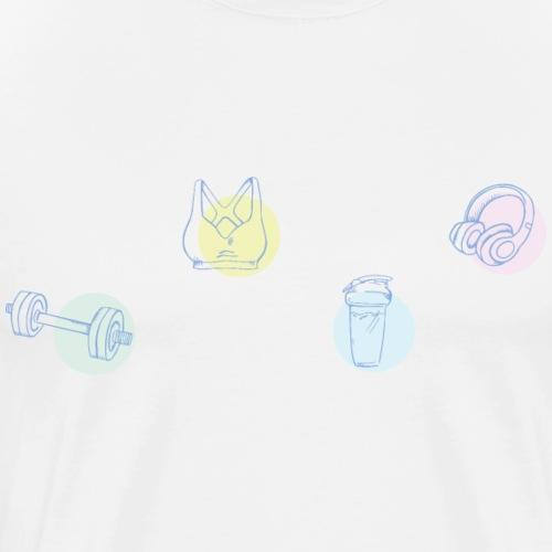 Fitness Sportaccessoires - Männer Premium T-Shirt