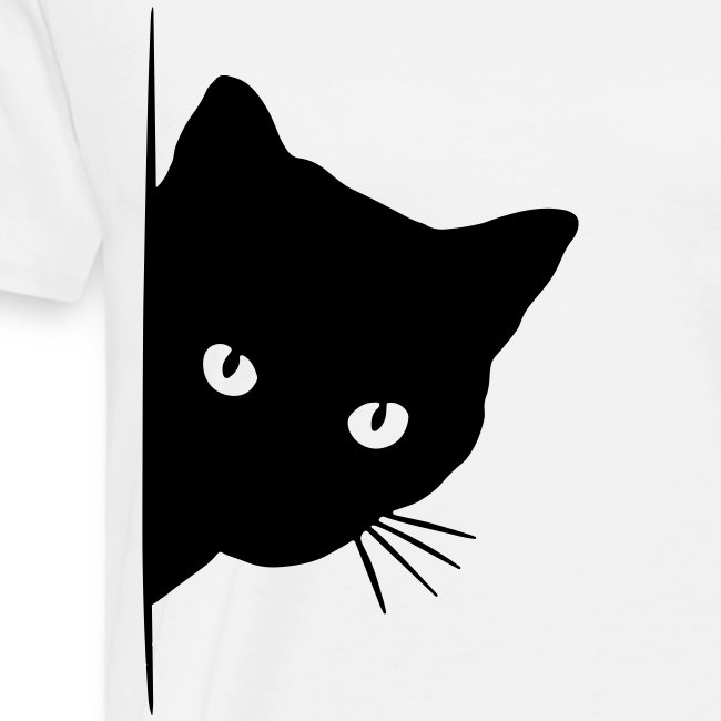peeking cat - Männer Premium T-Shirt
