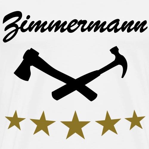 Zimmermann Zimmerer Werkzeug - Männer Premium T-Shirt