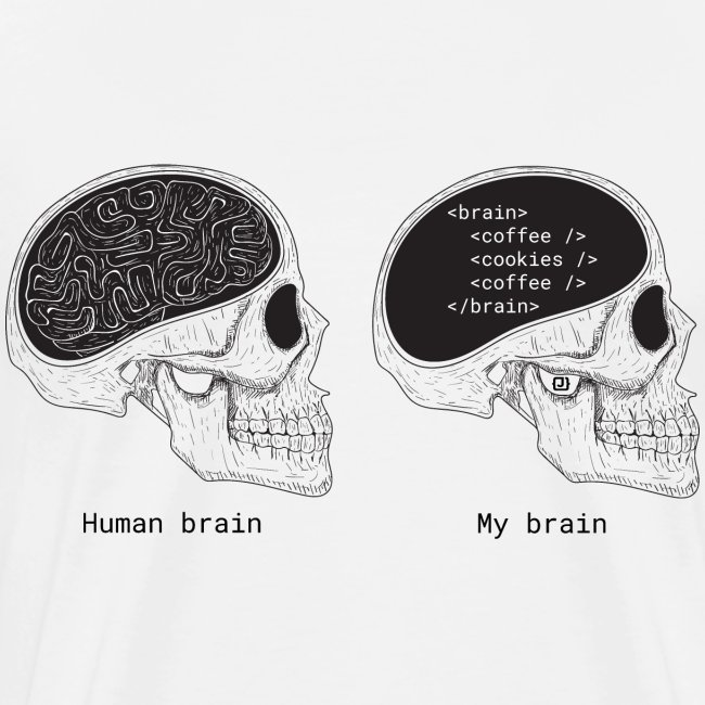 Human programmer brain | Geeky | Web jokes