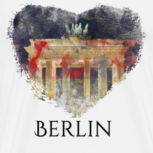 My heART beats for Berlin - Männer Premium T-Shirt